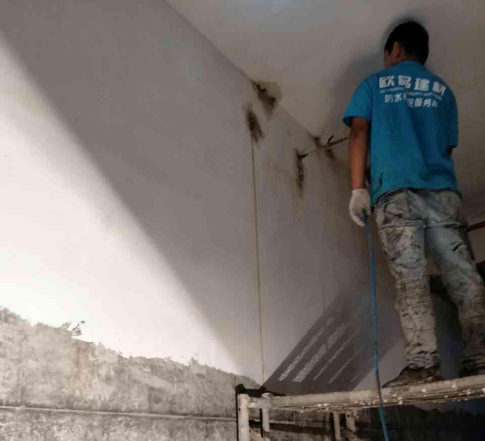 【欧品防水】地下室防水高压灌浆修复墙体
