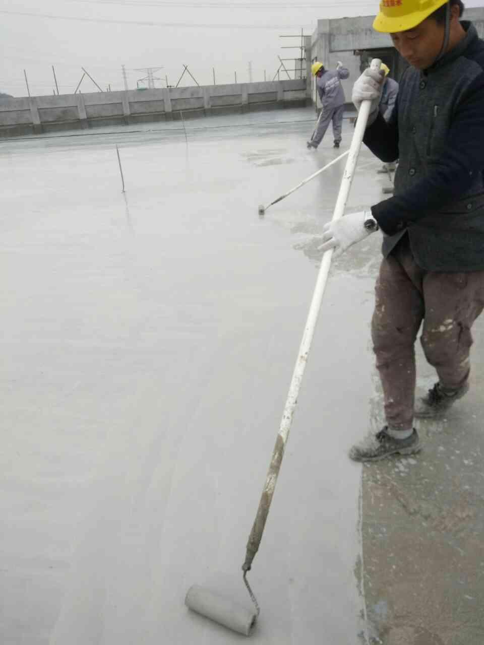 【欧品】混凝土屋面防水施工现场